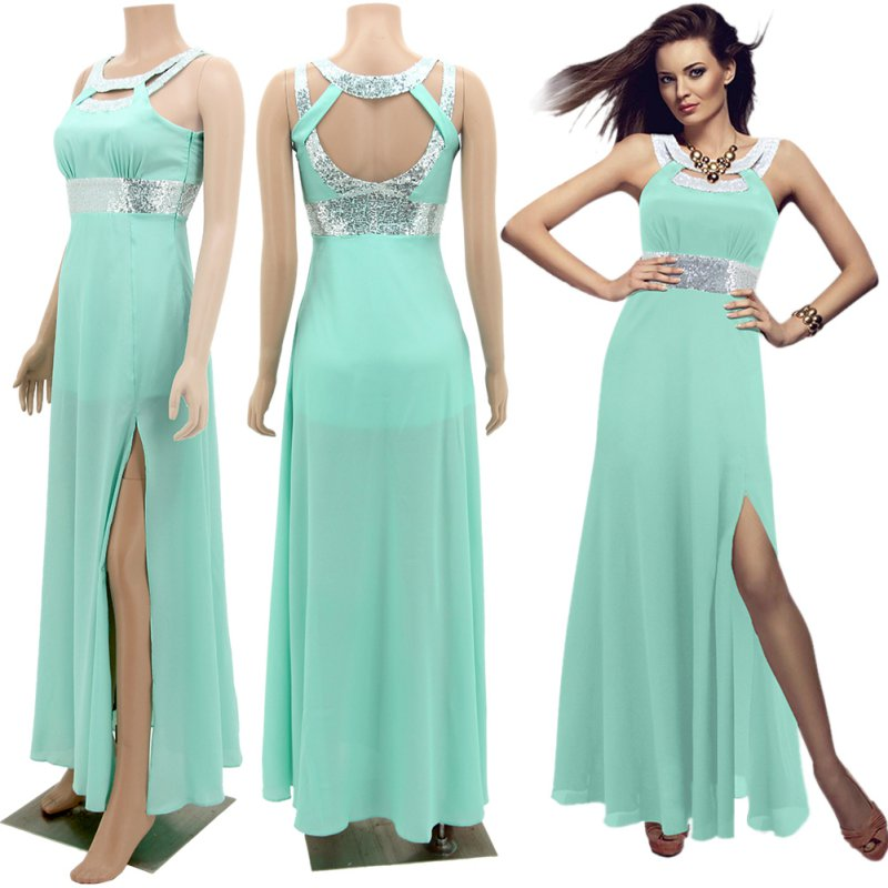Summer Women Lady Long Evening Party Prom Gown Formal ...