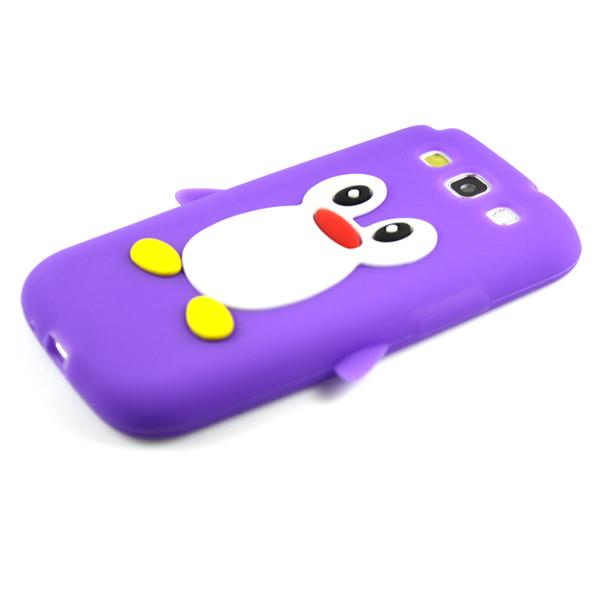 Nuevo-Gel-Suave-3d-Penguin-volver-Estuche-Para-Samsung-Galaxy-S3-Iii-S3-I9300