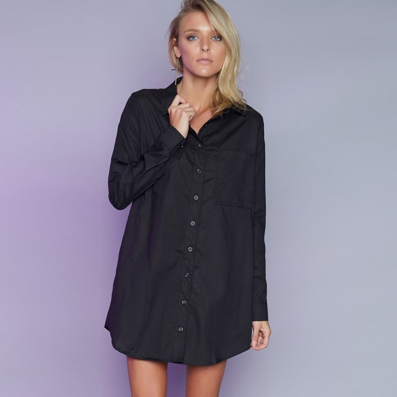 Womens sexy button down shirt casual long sleeve loose t for Women s button down dress shirts